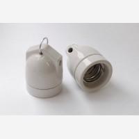 Porcelain lampholder with 2 holes