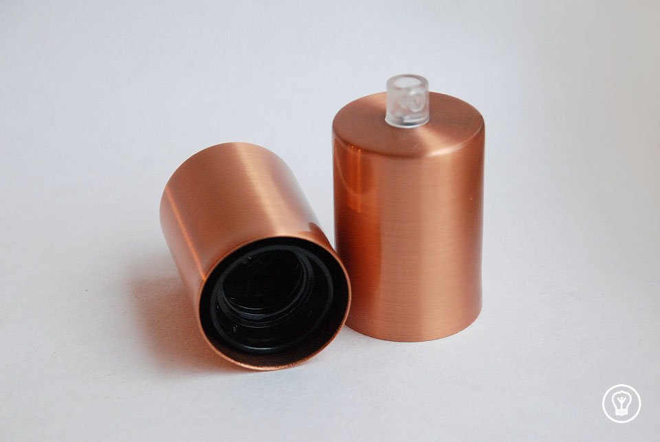 Copper lamp, without finish