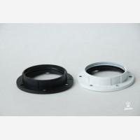 Shade ring for bakelite E27 lampholders, white