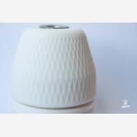 Porcelain glossy bulb holder, striped