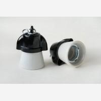 Porcelain - bakelite lampholder with 2 holes
