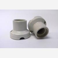 Porcelain bulb holder for ceiling E27, white