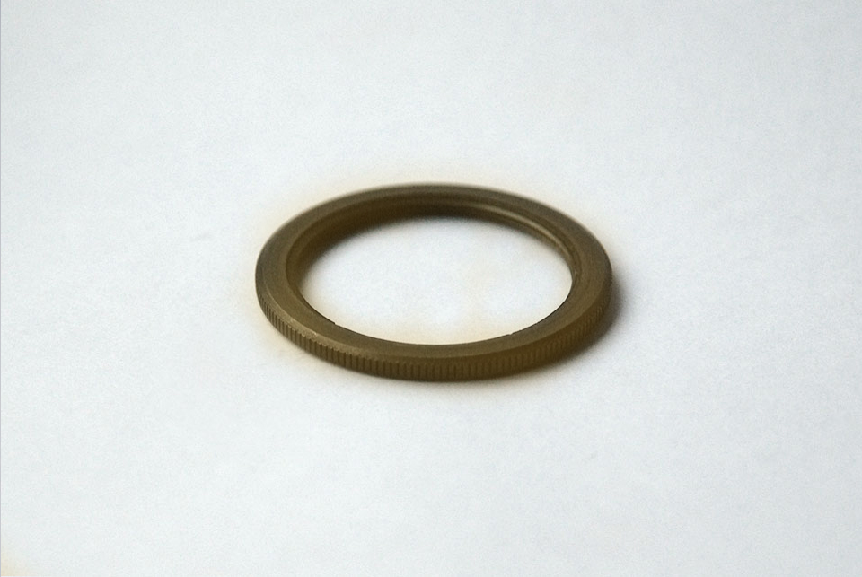 Shade ring for antique lampholders, old brass finish E27