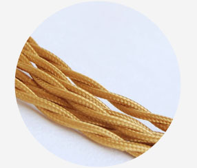 "Twisted Cable ""Golden"", 3x1,5mm2"