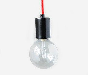 Pendant lamp metal, black