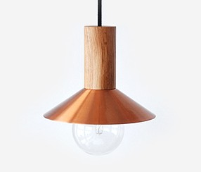 Pendant lamp EW Elba,copper