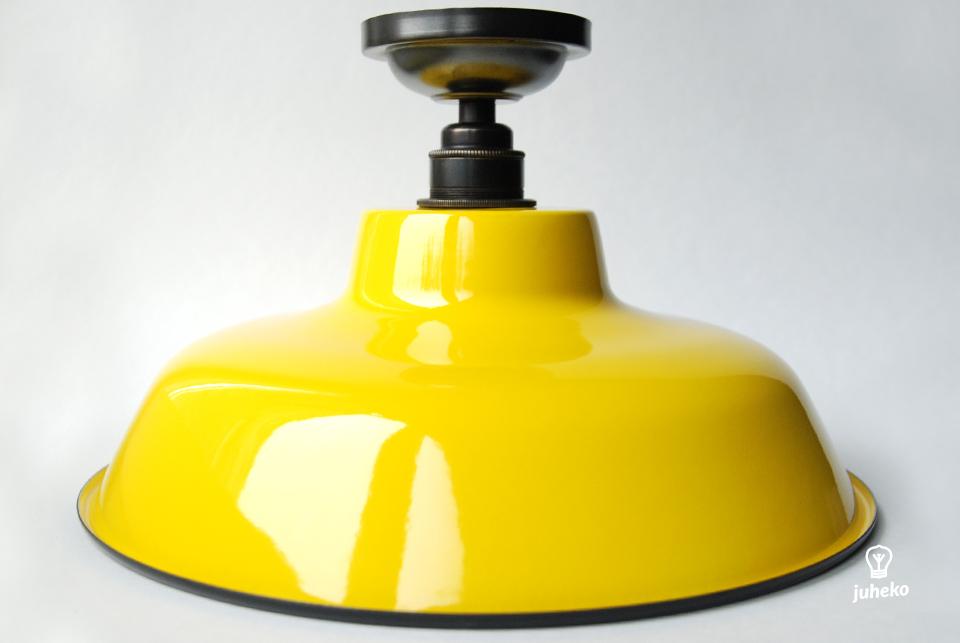 Enamel ceiling lamp TLN, yellow