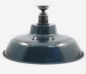 Enamel ceiling lamp TLN, black