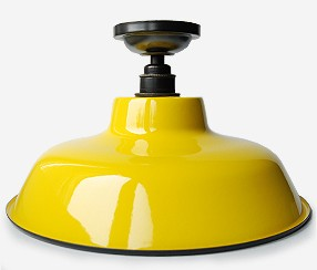 Enamel ceiling lamp TLN, yellow
