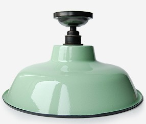 Enamel ceiling lamp TLN, green