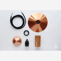 Pendant lamp EW Elba,copper