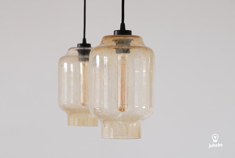Handmade glass pendant light Kaju, Summer night