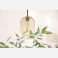 Handmade glass pendant light Kaju, Sandstorm
