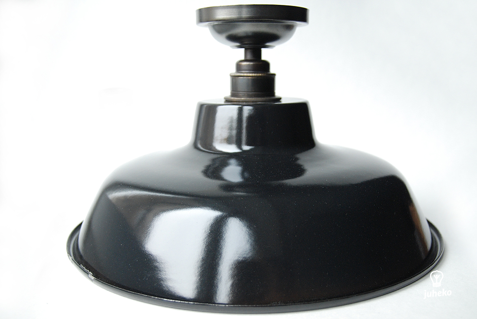 Enamel ceiling lamp TLN, black