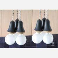 Wooden lamp Muki, oak, black