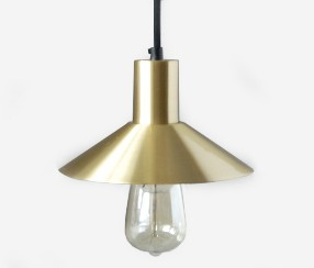 Pendant lamp EW-metal, brass