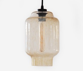 Handmade glass pendant light Kaju, Summer night