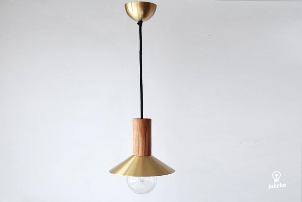 Pendant lamp EW Elba, brass